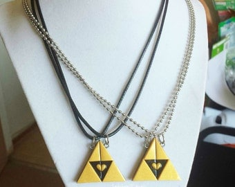 Legend of Zelda Inspired Triforce BFF/ Couple's Necklace