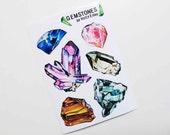Gemstones Sticker Sheet
