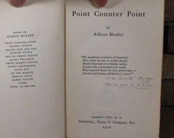 Point Counter Point by Aldous Huxley - HC 1st Edition 1928