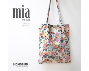 Market Bag, Book Bag, Tote Bag, Everyday Bag, Bag Pattern PDF, Sewing Pattern, DIY gift, beginner sewing,
