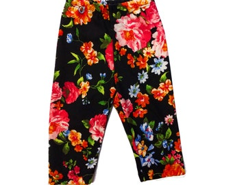 Floral Double Brushed Poly Baby/Toddler Leggings, size 9m
