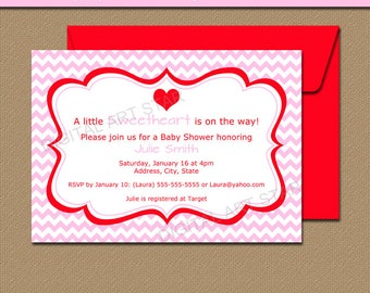 Downloadable Valentines Day Invitation - EDITABLE Valentine Party Invitation - Printable Valentines Day Baby Shower Invitation Template V2