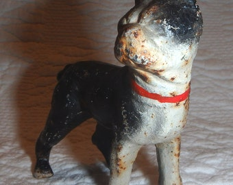 Small Cast Iron Boston Terrier Figurine