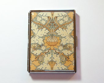 Art Nouveau Cigarette Case, Slim Cigarette Case, Cigarette Holder, Cigarette Case, Cigarette box, Art Deco, Vintage Design (7314)