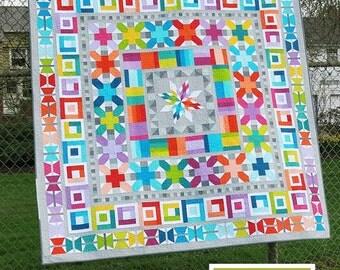 Aviatrix Medallion Quilt Pattern - Scrappy Quilt - Quilt Pattern - Modern Quilt Pattern by Elizabeth Hartman