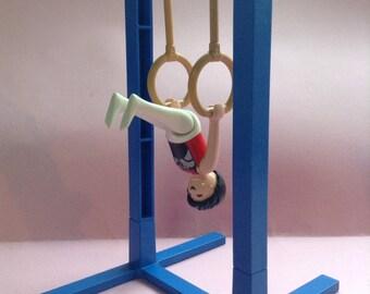 Playmobil Gymnist and Rings set, Gymnastics set,  Asian, original, Playmobil Geobra, Olympics, Greece