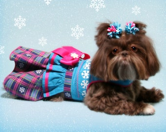 WINTER:  Snowflake Dog Dress