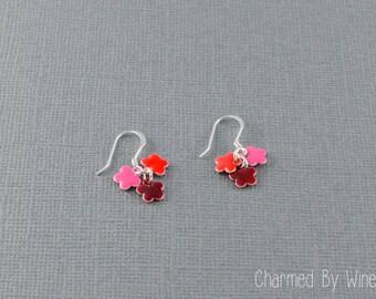 Flower Earrings: Dangle Earrings, Flower Cluster, Flower Jewelry - CUSTOM COLORS AVAILABLE