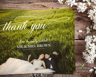 Wedding Thank You Cards, Magnets or Postcards from the newly wedded
