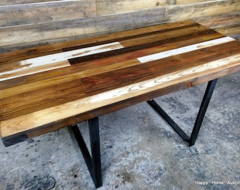 Reclaimed Salvaged Wood Dining Table or Desk-