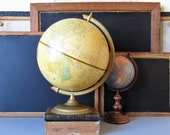 Vintage globe, Cram's Imperial globe, world globe, library decor