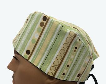 Unisex Scrub Cap - Colorful Polka Dots and Stripes scrub hats - Scrub Hats  -Surgeons Scrub Cap -Doctors Gift - Fancy Scrub Hat - Nurses hat