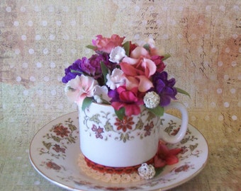 Mini Teacup Floral Arrangement