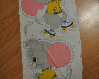 Cute Mouse Fabric Panel - 22 inches high