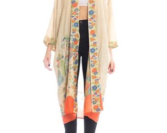 1920s Floral Print Kimono Size: XS-XL