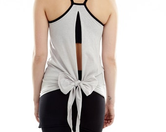 Backless Yoga Tank - 'Ekadasa' with Built-in Bra Support - Women's Yoga Clothes
