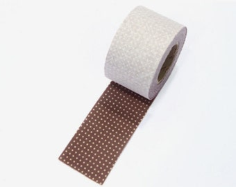 4 cm Dot Series Cotton Bias Tape in Cocoa - 10 yards By the Roll 95673