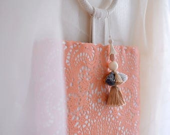 Hello, February Top Handle bag, coral color summer style small purse, style119B