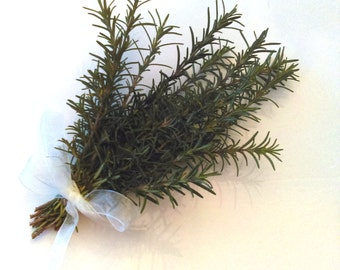 Fresh Organic Rosemary Small  Bouquet: Wedding Herbs, Sympathy Spray, Fresh Cut Herbs, Events, Garden Party
