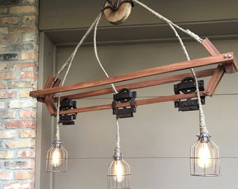 Industrial Light Chandelier Lamp Steampunk