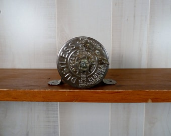 Vintage Metal Clothes Line Reel Ever Ready Steampunk Supply