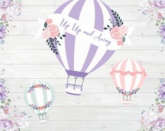 Spring Balloons - Vinyl Photography  Backdrop Photo Prop