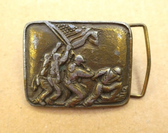 Vintage Marine WW2 Brass Belt Buckle