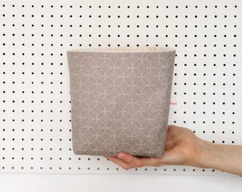 Storage box - grey fabric storage basket - fabric storage bin - scandi style - gift for organised mum - nursery storage basket