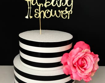 Baby shower cake topper, stork cake topper, sprinkled cake topper, gender neutral cake topper, special delivery cake topper