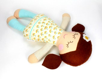 baby doll | soft baby toy |  Rosie doll |  first doll |  baby rag doll |  baby shower gift