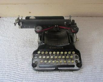 Corona Typewriter Portable, Antique Manual Folding Corona Typewriter