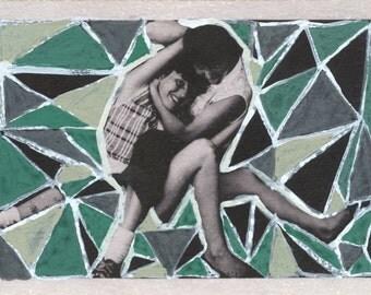 "Fine Art Print: ""Triangular Ladies"" 4x6 Matted to 5x7"