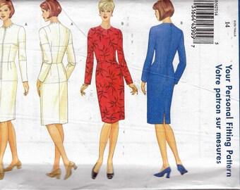 "2011 Butterick 5627 Fitting Shell and Dress Sewing Pattern Size 14 Bust 36"" UNCUT"