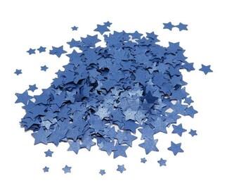 Tiny Confetti, Metallic Blue Confetti, Blue Star Confetti, Star Confetti, Confetti Stars,  Paper Confetti, Small Stars, Paper Stars