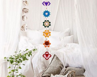 Summer sale 20%Off coupon code: SUMMERSALE2017   Spiritual suncatcher Set seven chakras Yoga decoration Sacred geometry.