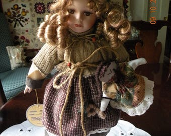 Emerald Porcelain Doll Aileen - 17""