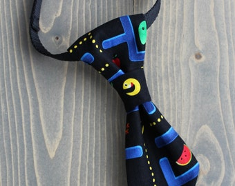 Pacman Neck Tie for Cat, Necktie for Small Dog, Collar Accessory, Neckwear, Arcade Game, Classic Video Game, Fashion Accessory for Pets