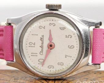 vintage disney cinderella watch - 1960's - us time - ladies' watch - girls'  watch