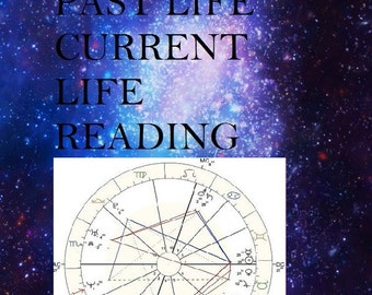 Past Life & Current Life Reading - Using your Astrology Chart and Psychic Insight - Via Email