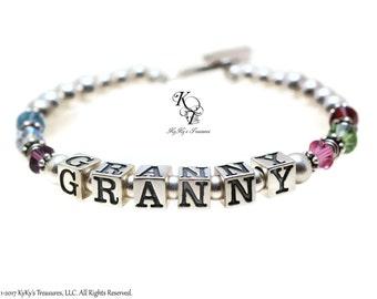 Mother Bracelet Birthstone Grandma Bracelet Birthstone Bracelet, Mothers Jewelry, Mothers Day Gift, Personalized Mothers Bracelet