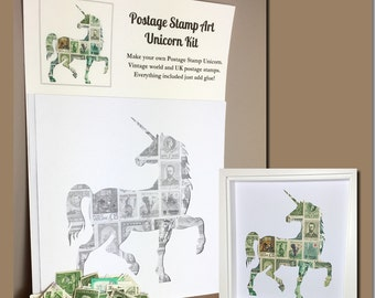Unicorn Postage Stamp Art Kit