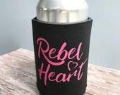 Rebel Heart Can Coolers Cozie