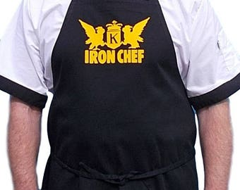Custom Cooking Apron Iron Chef Novelty Kitchen Aprons