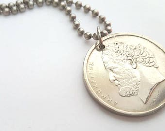 1978 Coin Necklace  - Stainless Steel Ball Chain or Key-chain