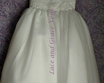 Communion Dress Size 7  with Choice of Handmade Veil (11)