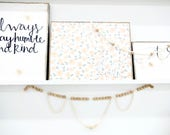 Wooden bead garland wall decor with swag #1