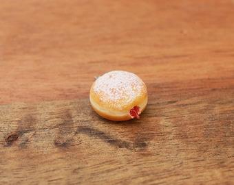 Jelly Doughnut Jammy donut charm - food jewelry, birthday gift, donut charm, jelly donut charm, jam donut, jam donut charm