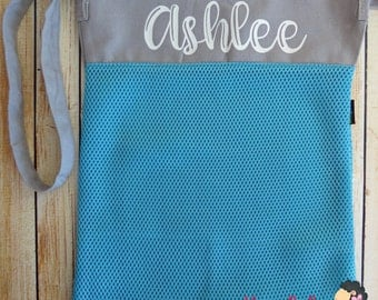 Personalized Mesh Seashell Beach bag