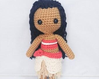 Amigurumi Moana Crochet Doll
