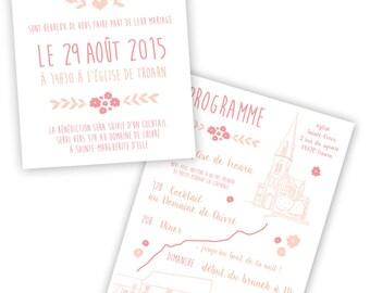 (Duplex - digital version) invitations invitations wedding invitations baptism invitation